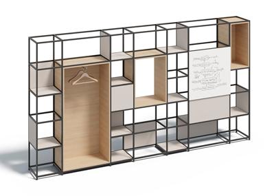 shelving house4 - Sistema modular para crear espacios funcionales en la oficina