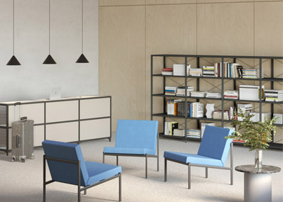 sistema modular bg1 - ESTILO propone un innovador sistema modular que optimiza los espacios de trabajo
